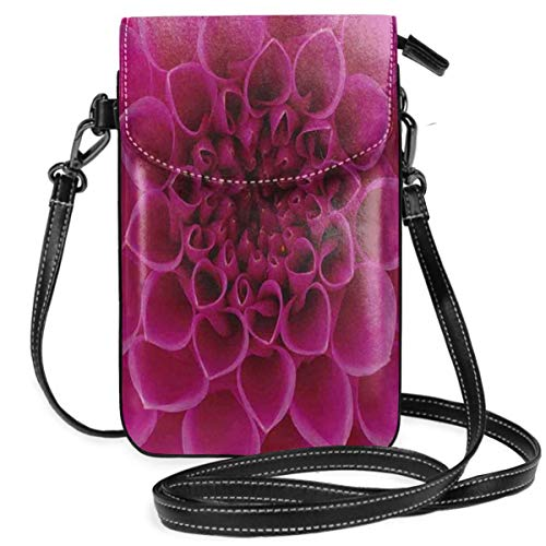 Women Small Cell Phone Purse Crossbody,Close-Up Flower Petals Florets Nature Beauty Fragrance Botany Bloom Fresh Picture Print -