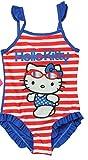 Hello Kitty Badeanzug in 2 Verschiedenen Farben (104-110, Rot/Blau)