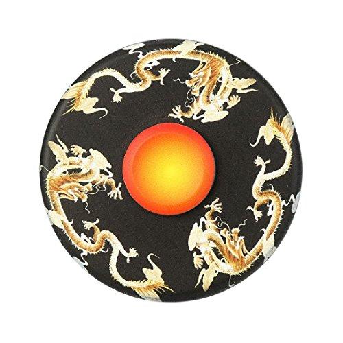 Ancient Chinese Mythology Design Anglewolf Metal Hand Spinner Tri Fidget Desk Toy EDC Stocking Stuffer Kids/Adult (Black##)