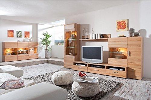 Wohnkombination Buche Holzoptik