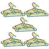 COM-FOUR® 20x Kleiderbügel für Kinder in verschiedenen Farben