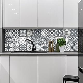 Ambiance-Live Carreaux de Ciment adhésif Mural - azulejos - 15 x 15 cm - 15 pièces