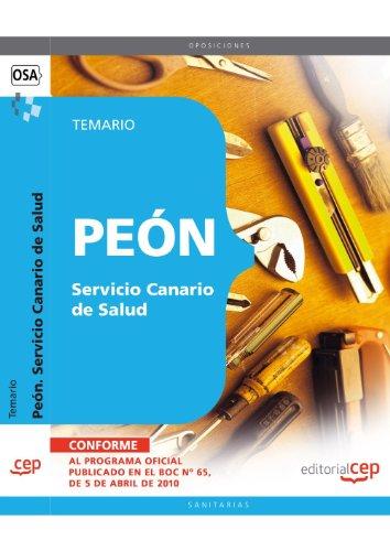 Peón Servicio Canario de Salud. Temario (Colección 1497) por Rafael Conde Melguizo
