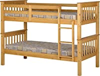 Seconique Neptune 3 Feet Bunk Bed - Oak Effect