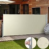 Jago Seitenmarkise Sonnenschutz Sichtschutz Windschutz - diverse Farben und Größen (beige / 160x300cm/ SMKS01-160BG)