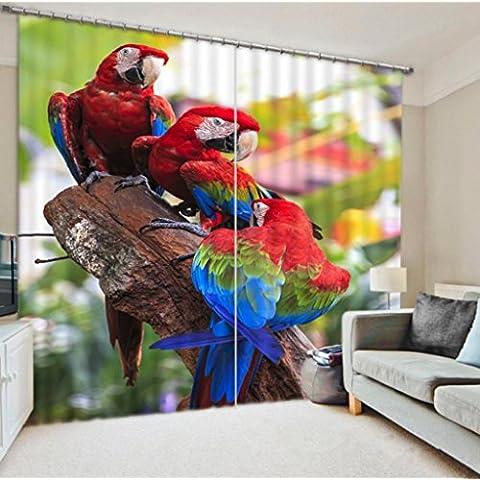 GYMNLJY Tenda animali stereo 3D Home Decor stampa tessuto lavabile