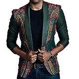 Longra Herren Blazer Slim Fit Sakko Blazer Anzug Jacke im Ethno-Style Modisch Freizeit Hochzeit Party Blazer Kurzjacke Kurzmantel Herrenjacke Sweatjacke übergangsjacke Steppjacke Outwear (XL, Grün)