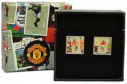Boutons de manchette design Manchester Utd FC Retro dans la boîte de présentation