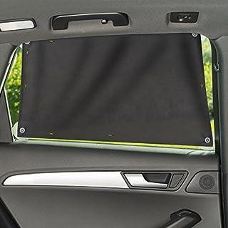 Zamboo Sonnenschutztuch/Sonnenblende fürs Auto - universaler Baby UV Sonnenschutz | einfache Saugnapf Befestigung für Seitenscheibe/Fenster - Grau