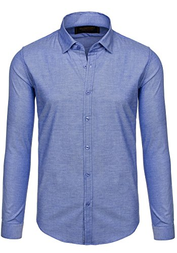 BOLF - Chemise casual – avec manches longues – GLO STORY 9666 – Homme Bleu