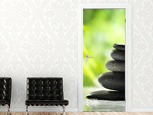 Graz Design 791380_067 Türbild Türaufkleber Tür Deko Türsticker Badezimmer Wellness Steine Bad (Größe=67x213cm)