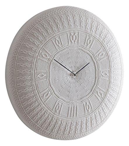 Diamantini & Domeniconi 50 cm Diamètre Coton Gomitolo Horloge Murale, Blanc cassé