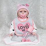 Doll Lebensechte Reborn Baby Puppe Weiche Silikon Vinyl Baumwolle Körper Magnetische Schnuller Mädchen Jungen Spielzeug Festliche Geschenk 55 cm 22