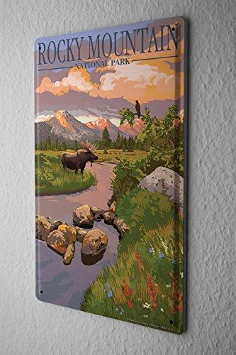Blechschild Abenteurer Rocky Mountain National Park