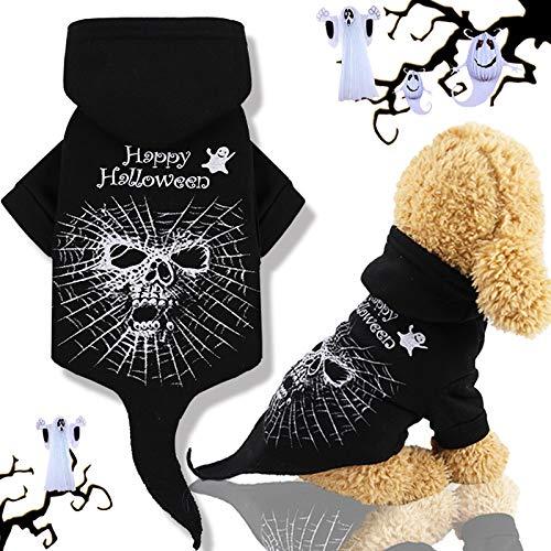 Idepet Abrigo de perro con capucha para mascotas de Halloween,...