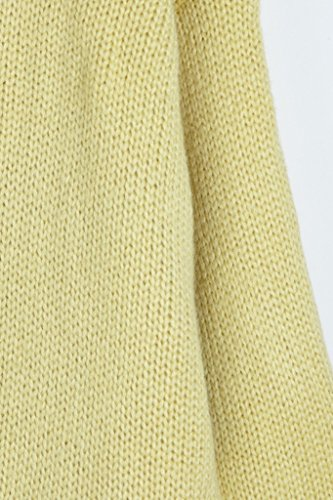 Vogueearth Fashion Hot Femme's Ladies Batwing Manche Knit Jumper Loose Sweater Chandail Tricots Pullover Top Jaune