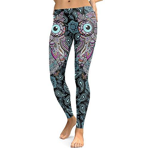 DioKlen Leggings para mujer, diseño de calavera, con estampado 3D de camuflaje, leggins de fitness, pantalones elásticos, pantalones y legins [KDK1770 L]