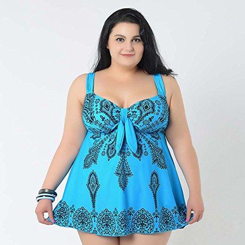 XL-übergewichtige Menschen kleiden einteilige Bikini-Badeanzug 62 See Blau