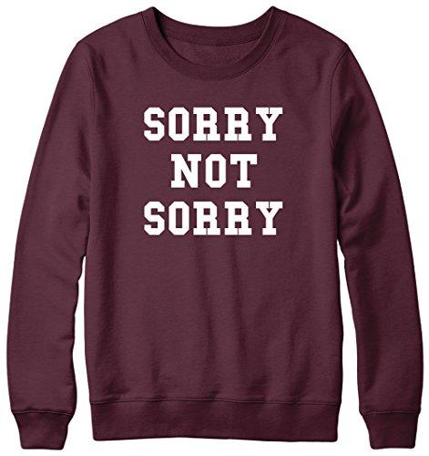 Veuillez nous excuser de ne Pas désolés Fun Slogan Humour Hipster Pull Unisexe Marron - Bordeaux