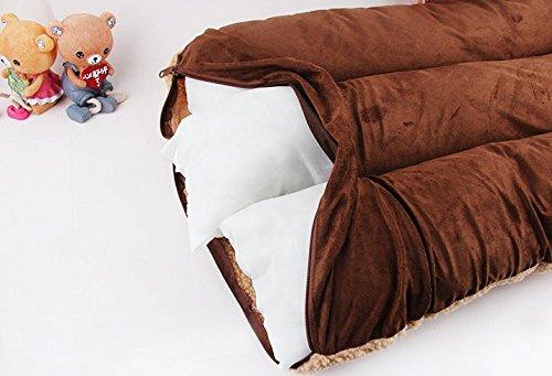 Komia Hundebett für Hund Outdoor Indoor 95cm X 60cm Hundebett Square Bett für hunde Beseitigung Falsche Sherpa - 5