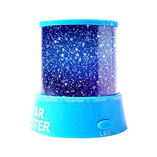 Aeeque® [blu] romantico stellato lampada mini-proiettore della stella [con usb cavo] led night light luce notturna per bambino camera da letto baby room decorazione