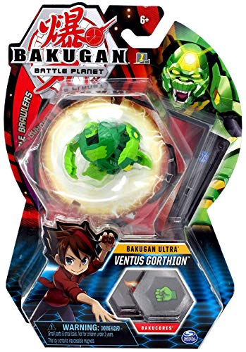 BAKUGAN Ultra, Ventus Gorthion, 3-inch Tall Collectible Transforming Creature, for Ages 6 and Up
