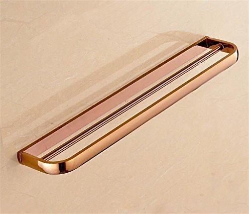 Rose Verchromen (LISABOBO Handtuchhalter Gold Doppel Handtuchhalter Antique Hanging Handtuchhalter Badezimmer Hardware Anhänger Badezimmer europäischen Handtuchhalter Handtuchhalter (Farbe: Rose Gold))