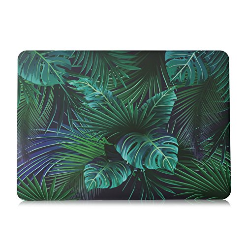 lenboes Ultra Dünne Snap On gummierte Kunststoff Hard Shell Cover Schutzhülle für Apple Old MacBook Pro 38,1cm 15,5mit Retina-Display (A1398) MacBook Pro 15 Retina Old Version A1398 Palm Leaves