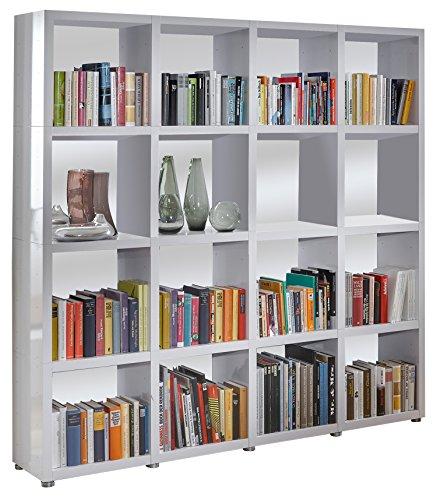 Bücherregal Raumteiler READY 44R Alpineweiß mit Rückwand
