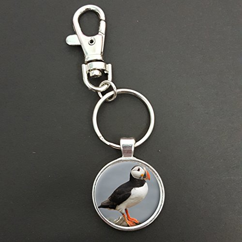 Puffin Pendant On A Spring Hook Keyring Bag Tag Ideal Birthday Gift N581