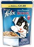 Felix So gut wie es aussieht Senior Katzenfutter mit Huhn, 20er Pack (20 x 100 g) Beutel