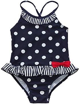 YiZYiF Mädchen Badeanzug Einteiler Polka Dots Schwimmanzug Bademode Bikini Badekleidung 92 98 104 110 116 122...
