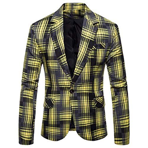 ESAILQ Herren Herbst Winter Formale Streifen Langarm Weste Jacke Top Coat (Medium,Orange) (Rosa Pailletten Jacke Für Erwachsene Kostüm)
