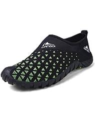 SAGUARO® Hombres malla transpirable zapatos sin cordones de agua de secado rápido del Aqua