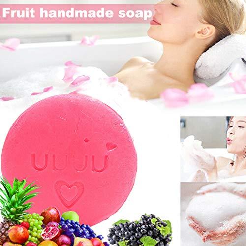 TAOtTAO Instant Miracle Whitening Soap Feuchtigkeitsspendendes Hautpflegeöl zur Tiefenreinigung Handgemachte Seife, natürliche Fruchtölseife