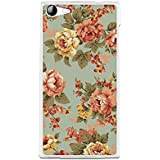 Funda Gel Flexible Wiko Highway Star 4G BeCool Flowers Collection Vintage Green Carcasa Case Silicona TPU Suave