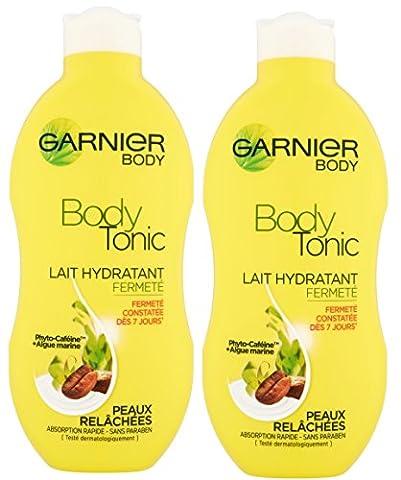 Garnier - Bodytonic - Lait corps - Hydratant fermeté peaux relâchées Lot de 2