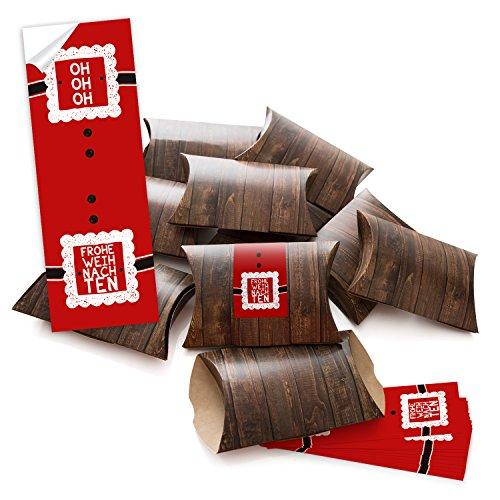 '100piccolo regalo scatole regalo scatole di cartone marrone (14,5x 10,5+ 3cm altezza) con adesivo fascetta