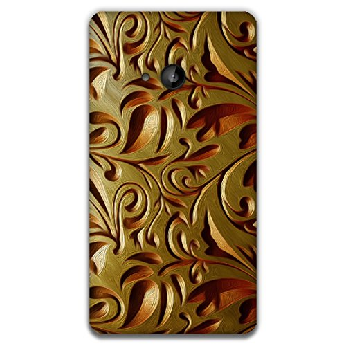 The Racoon Lean printed designer hard back mobile phone case cover for Microsoft Lumia 535. (Gold Weave)  available at amazon for Rs.99