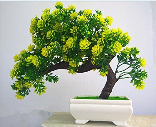 artificial Bonsái Bonsai sintético decorativo Artificial flor de la planta con Potted Decoración tabla sala estar afortunada Feng Shui Decorativa árboles floración , #171