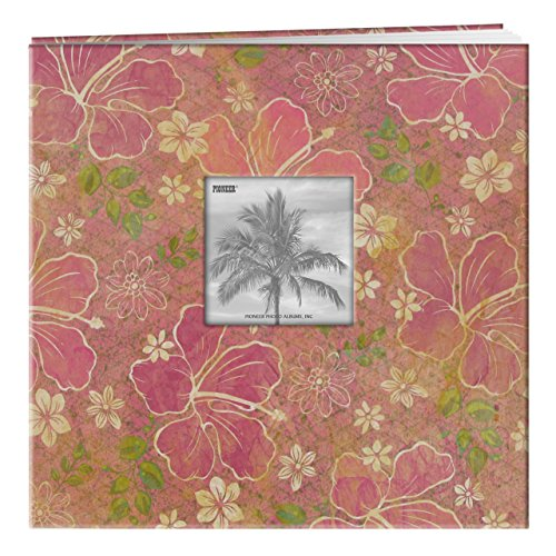 Pioneer 12x 12Zoll Hibiskus tropischen Post Bound Album, Mehrfarbig