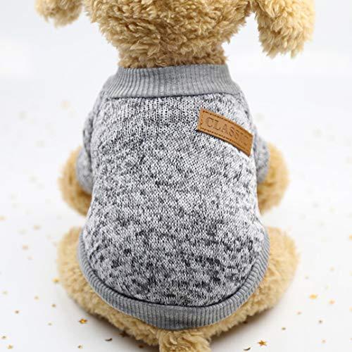 Smoro Haustier Hund Katze Pullover, warme Hunde Pullover Katze Kleidung, Fleece Haustier Mantel für Welpen -