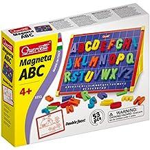 Quercetti 5211 - Magneta ABC Lavagna Magnetica 53 pezzi