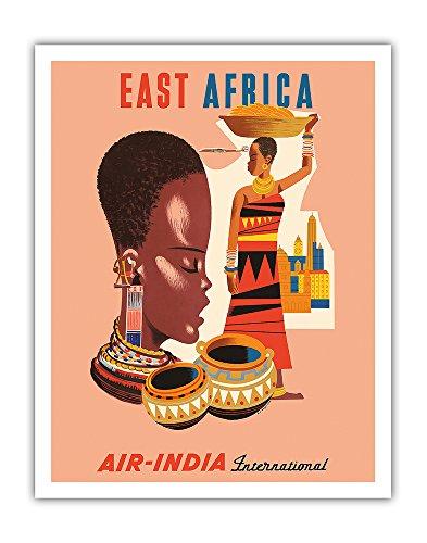 afrique-orientale-air-india-international-femmes-tribales-africaines-affiche-ancienne-vintage-compan