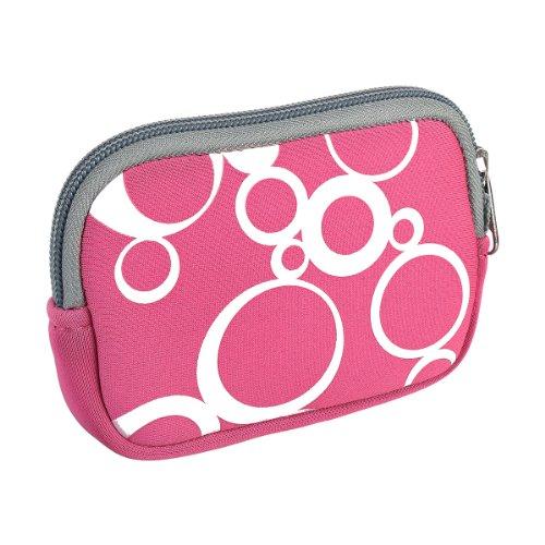 vyvy mobile stylische Neopren Universal Kameratasche für Kompaktkameras CIRCLES Pink