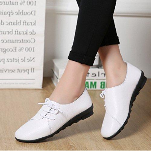 Scarpa Bianchi Sneakers Donna Sneaker Casual Pallacanestro Lacci Di Moccains Comfort Piattaforma HxZgwqx1