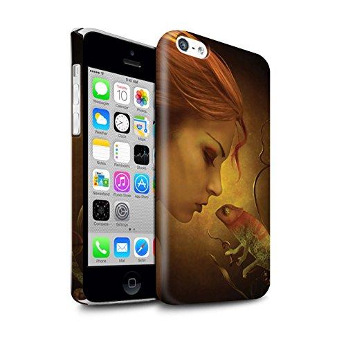 Officiel Elena Dudina Coque / Clipser Brillant Etui pour Apple iPhone 5C / Pack 5pcs Design / Dragon Reptile Collection Cameleon