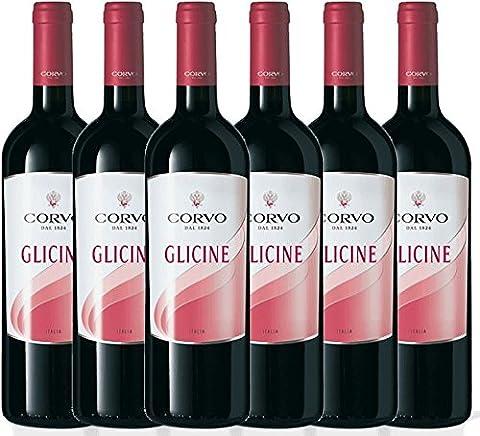 6er Paket - Glicine Rosso Sicilia IGP 2015 - Corvo - Duca di Salaparuta   trockener Rotwein   italienischer Wein aus Sizilien   6 x 0,75 Liter