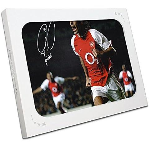 Robert Pires Firmado Arsenal Foto: Celebración de la meta. En la caja de regalo