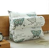 WEBO HOME- Triangle Nachtkissen Bett Soft-Schlafsack-Büro-Sofa-Kissen Rückenlehne Rückenpolster -Kissen ( größe : 45*45cm )